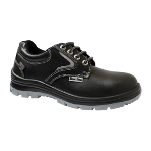 Blacksteel BS 9051 Leather Steel Toe Black Safety Shoes, Size: 5