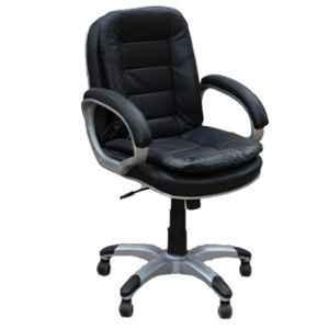 Arko Black Medium Steel Medium Back Adjustable Central Tilt Executive Chair, 893 A