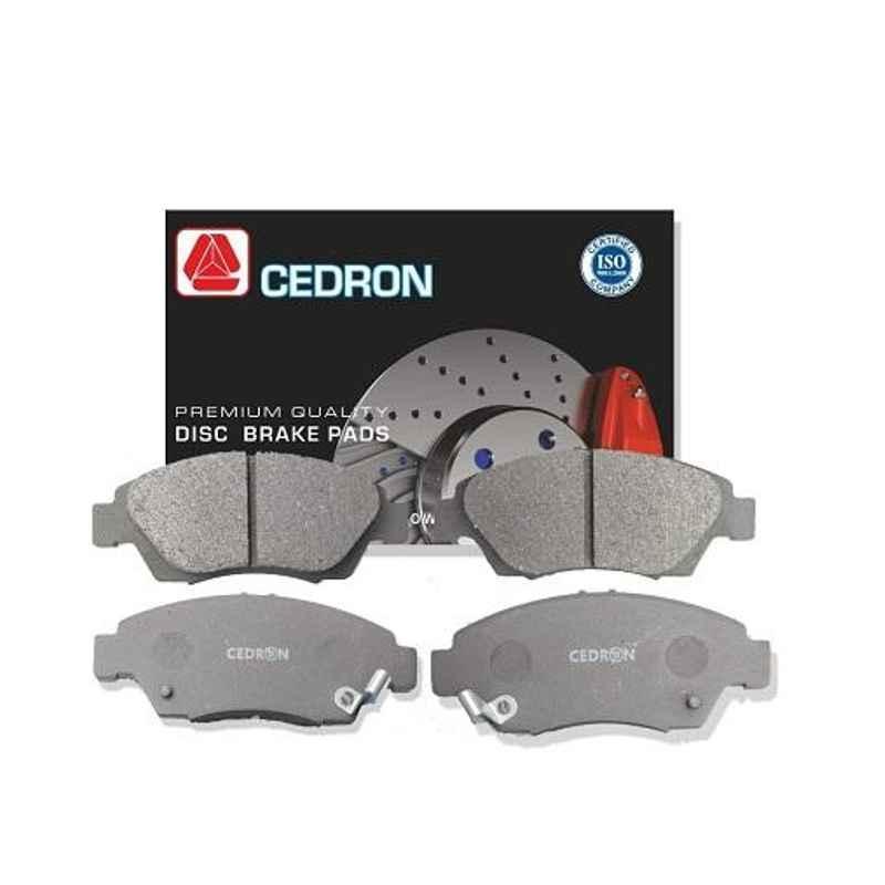 Cedron 4 Pcs CD-187 Front Brake Pads Set for Mahindra Kuv 100, 0603BAA0023KT