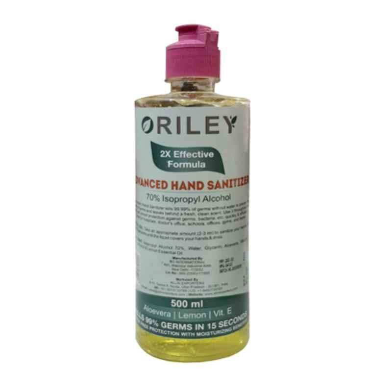 Oriley 500ml Isopropyl Alcohol Lemon Based Instant Germ Protection Gel Hand Sanitizer (Pack of 2)