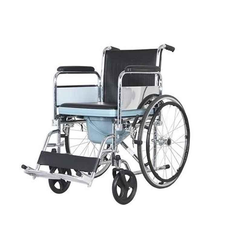 TRM Chrome Plated Steel Simple Folding Wheelchair, TR609-46/2008
