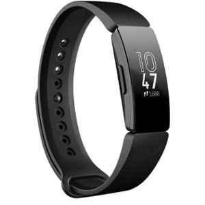 Fitbit Inspire Silicone Black Strap Health & Fitness Tracker, FB412BKBK
