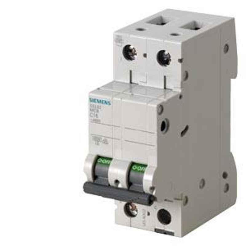 Siemens Betagard 32A Double Pole C Curve MCB, 5SL62327RC, Breaking Capacity: 7.5 kA