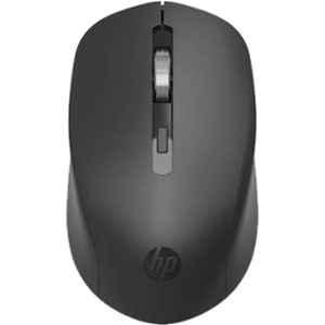 HP S1000 Plus Silent USB Black Wireless Computer Mute Mouse, 7YA12PA