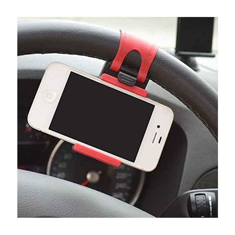 Love4ride Car Steering Wheel Red Mobile Holder Stand