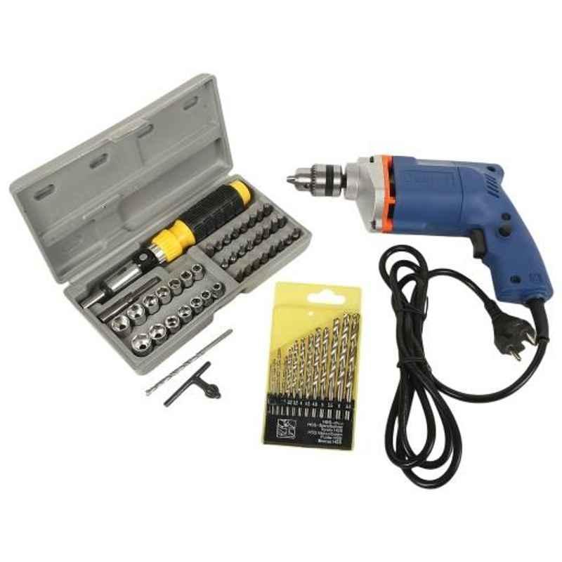 Imported 300W Drill Machine, 41 Pcs Socket & 13 Pcs Drill Bit Combo