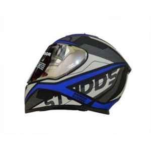 Studds Thunder D4 Decor Matt Black N1 Blue Motorbike Helmet, Size (L, 580 mm)